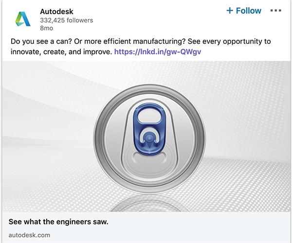 LinkedIn Autodesk ad example