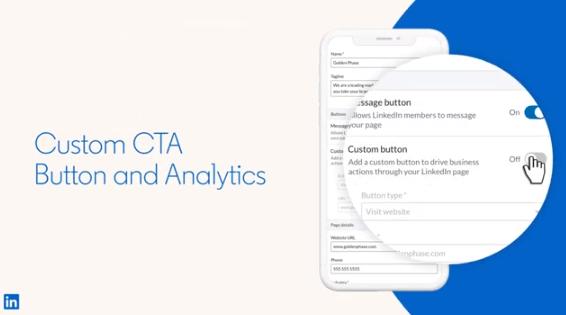 LinkedIn Custom CTA button example