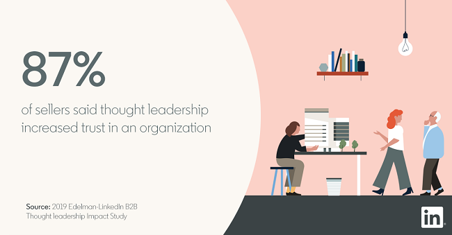 LinkedIn thought leadership stat graphic