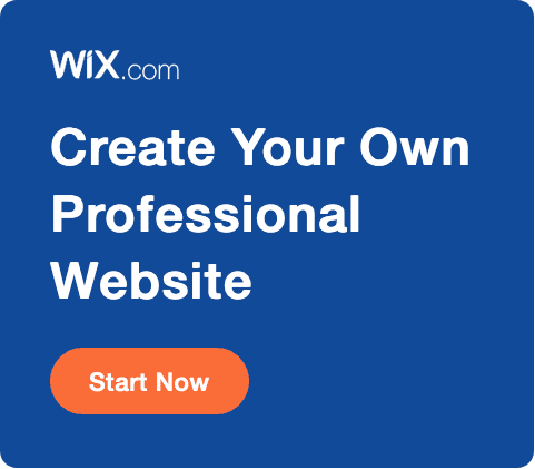 Create your own professional website with Wix dot com.