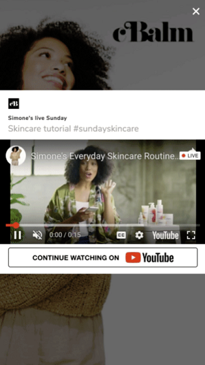 YouTube live-stream ads