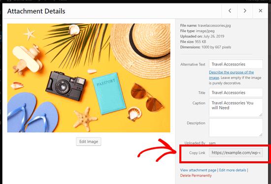 Find WordPress Image URL
