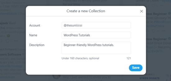 Create New Collection in TweetDeck