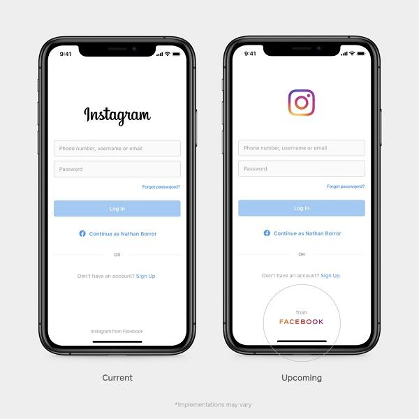 Facebook branding in Instagram